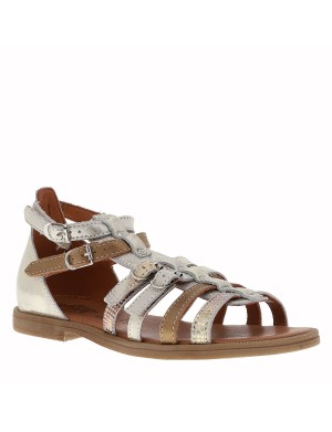 Chaussures Italie nu-pieds fille gris