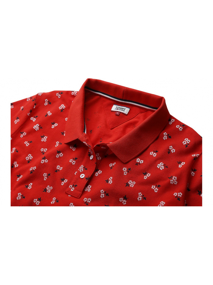 Polo femme rouge TOMMY JEANS