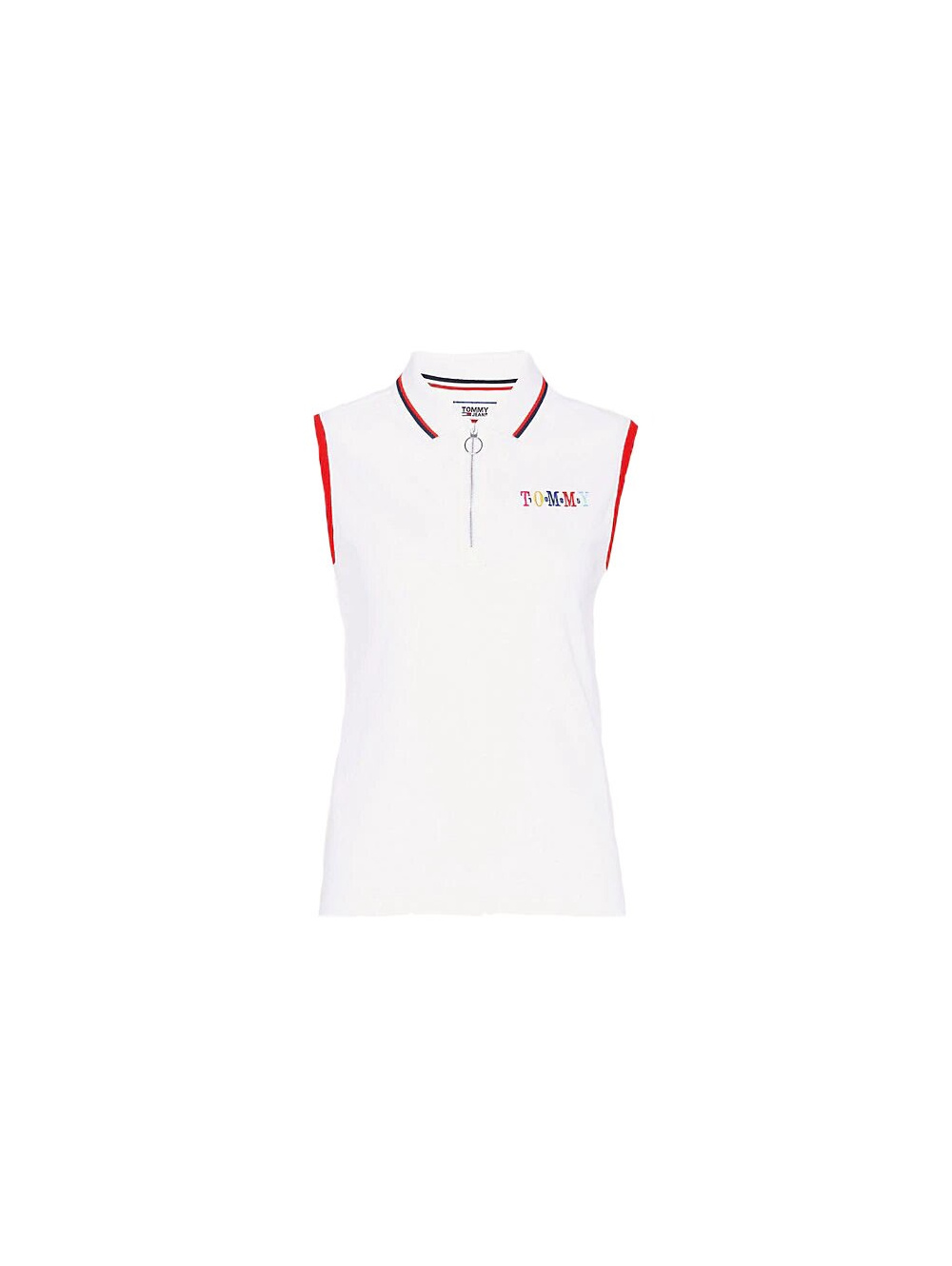 Polo femme blanc TOMMY JEANS