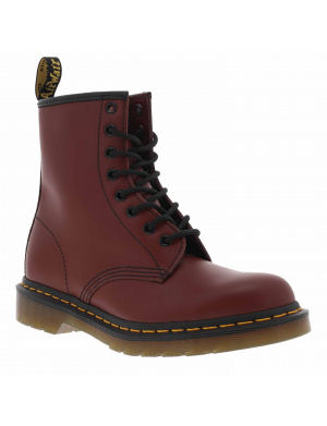 Boots femme 1460 CHERRY RED SMOOTH cuir rouge