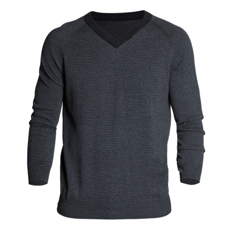 Pull homme CLAPTON coupe droite anthracite