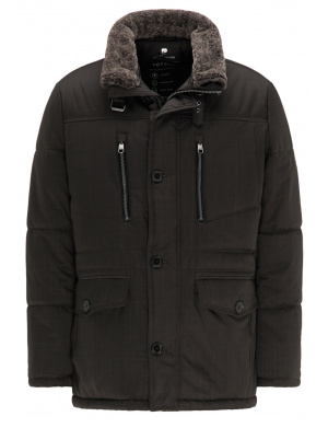 Parka homme coupe droite anthracite