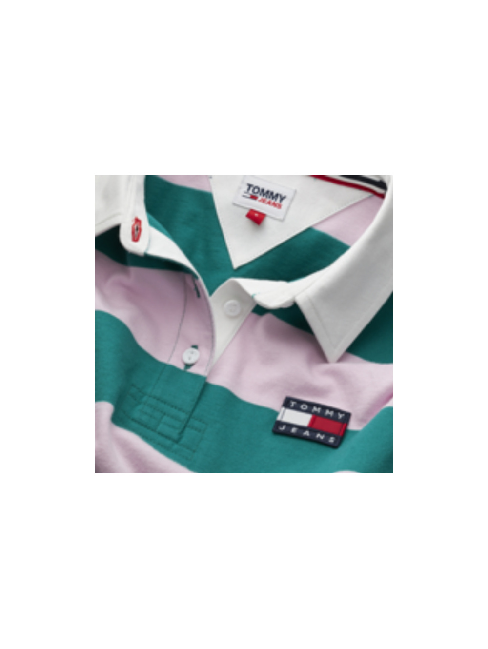 Polo manches longues femme vert TOMMY JEANS