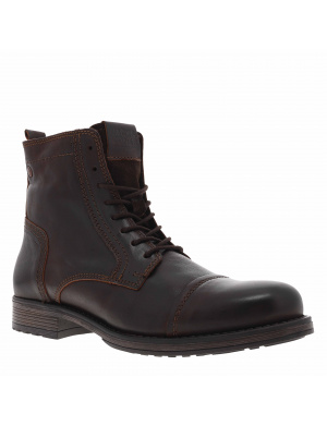 Boots homme RUSSEL cuir marron