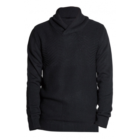 Pull homme ANDREW coupe droite noir
