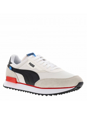 Baskets basses homme FUTURE RIDER PLAY ON   blanc cassé/rouge