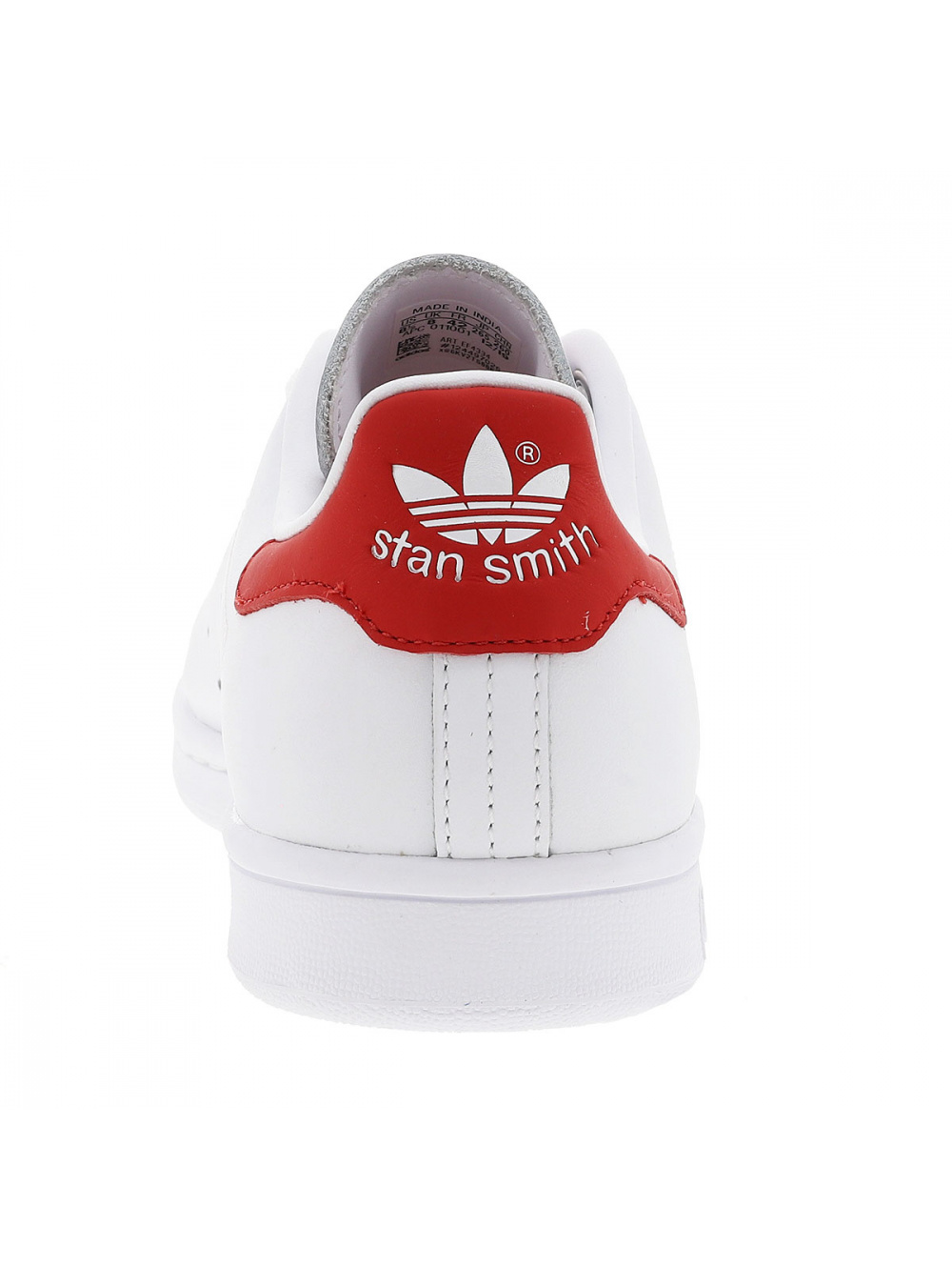 Baskets basses homme cuir STAN SMITH blanc/rouge Adidas,adidas ...
