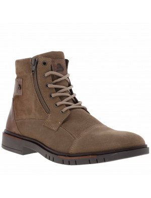 Boots homme en cuir   taupe