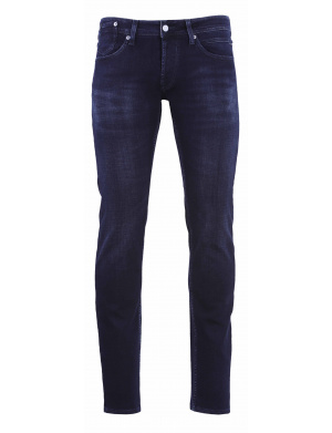 Jean homme coupe slim nuit
