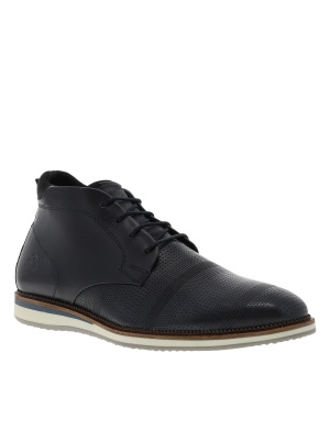 Boots homme en cuir style casual marine