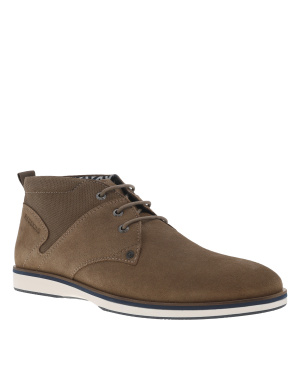 Boots homme en cuir POLYGON taupe