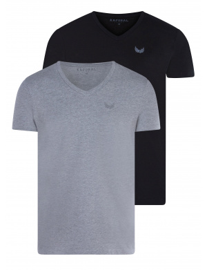 T-shirt col V homme multicolore