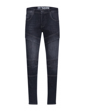 Jean anthracite en coton coupe skinny