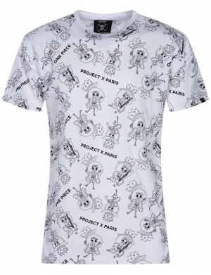 T-Shirt blanc One piece coupe droite