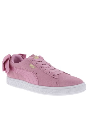 Baskets Suede Bow fille rose