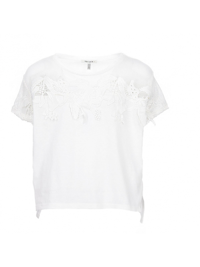 Top fille blanc TEDDY SMITH